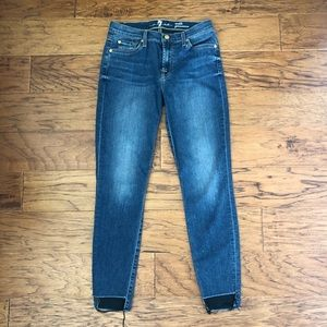 7 FOR ALL MANKIND ANKLE GWENEVERE JEANS - SIZE: 27